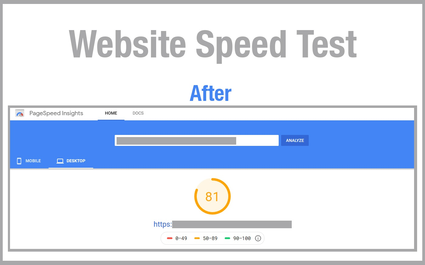 essential oil website speed test results after